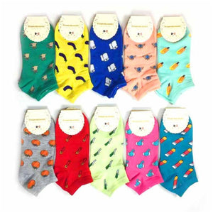 Cute And Colorful Patterned Socks - Cute And Colorful Patterned Socks