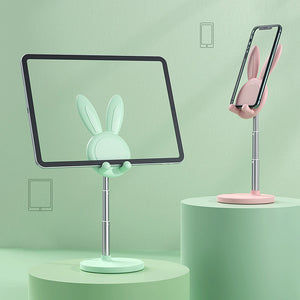 Universal Cute Bunny Rabbit Desktop Phone Stand