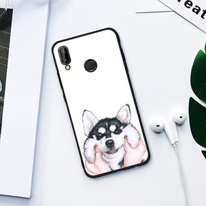 Cute Husky TPU Case for Huawei-TrendyVibes.CO
