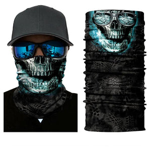3D Skull Seamless Head Scarf and Bandana-TrendyVibes.CO