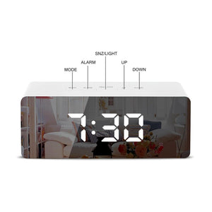 Digital Multi-Functional LED Mirror Alarm Clock - Digital Multi-Functional LED Mirror Alarm Clock