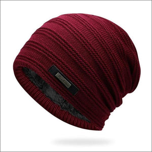 Double-Layer Acrylic Velvet Beanie-TrendyVibes.CO