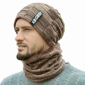 Soft Winter Beanie Hat and Scarf Set