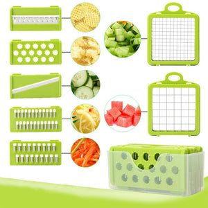 Multi Function Vegetable Cutter with Interchangeable Steel Blades