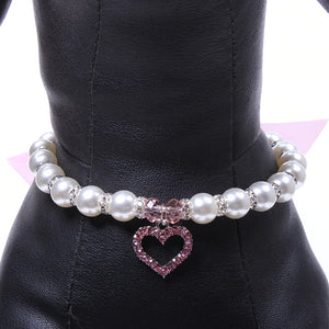 Cute and Dainty Rhinestone and Bow Collar for Pets