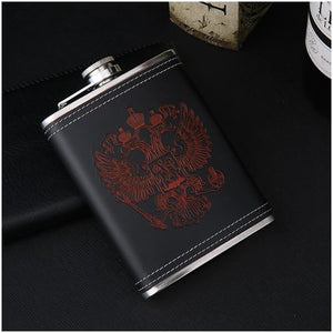 Faux Leather Whiskey Flask Set - Faux Leather Whiskey Flask Set