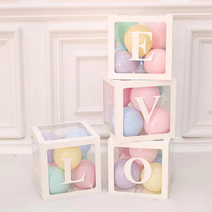 Transparent Alphabet Balloon Box For Party Decoration