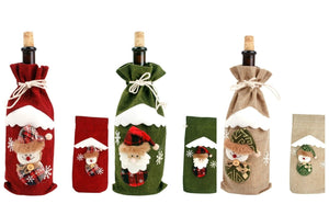 Festive Christmas Wine Bottle Bag-TrendyVibes.CO