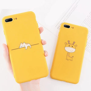 Funny Cartoon Giraffe iPhone Phone Case-TrendyVibes.CO