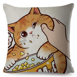 Lovely Cat-Themed Pillow Cases