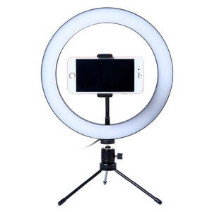 Gadgets And Accessories LED Photographer Vlogger Selfie Ring Light With Table Tripod - LED Photographer Vlogger Selfie Ring Light With Table Tripod