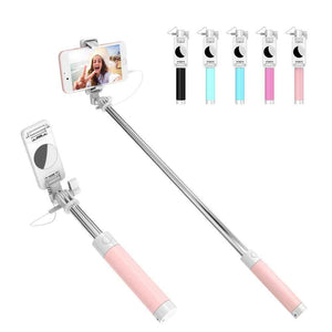 Candy Colored Mini Fold-able Selfie Stick for iPhone and Android-TrendyVibes.CO