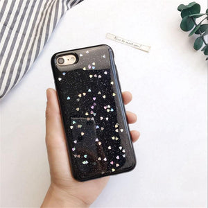 Glitter Bling Love Shockproof Case For Iphone - Glitter Bling Love Shockproof Case For Iphone