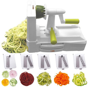 Home And Kitchen 5 Blade Spiral Vegetable Cutter - 5 Blade Spiral Vegetable Cutter