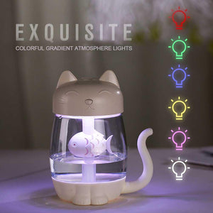 Home Improvement Cute Kitty Cat USB Humidifier With LED Light And Mini Fan - Cute Kitty Cat USB Humidifier With LED Light And Mini Fan