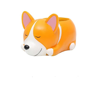 Cute Puppy Dog Lover Succulent Flower Pot-TrendyVibes.CO