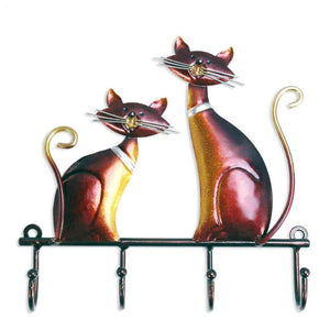 Decorative Elegant and Slender Cat Wall Hanger-TrendyVibes.CO
