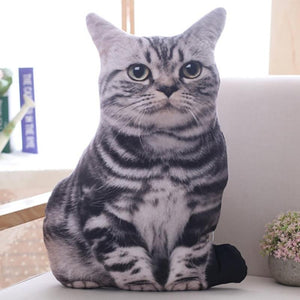 Soft Stuffed Realistic Cat Pillows-TrendyVibes.CO