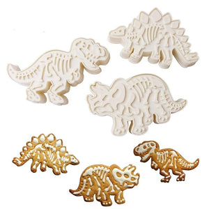 T-rex Dinosaur Cookie and Biscuit Cutters Set of 3-TrendyVibes.CO