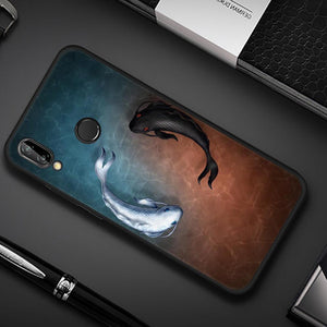 Yin Yang Koi Fish TPU Case for Huawei-TrendyVibes.CO