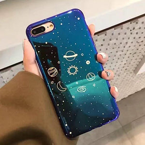 Holographic Mirror Stars and Planets iPhone Case-TrendyVibes.CO