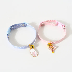 Adjustable Cat Collar with Bell Charms