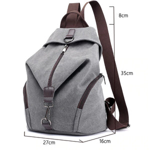 Casual Vintage Preppy Style Shoulder Backpack