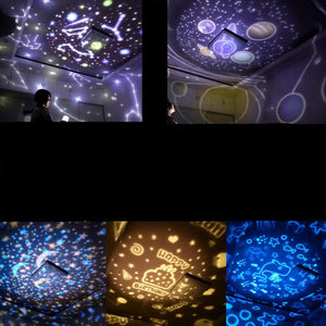 Magical Colorful Starry Sky Rotating Projector Night Light
