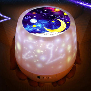 Magical Colorful Starry Sky Rotating Projector Night Light - Magical Colorful Starry Sky Rotating Projector Night Light
