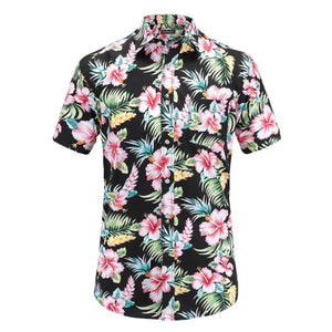 Men Clothing Summer Vibe Floral Button Up Shirts For Men - Summer Vibe Floral Button Up Shirts For Men
