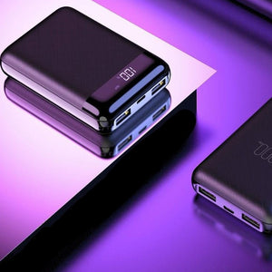 Mini Portable Dual Ports Power Bank
