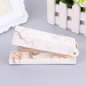 Marble Aesthetic Stapler for School, Office, and Journaling