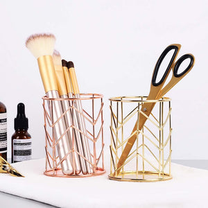 Multi Function Storage Makeup Cosmetics Organizers - Multi-function Round Nordic Cosmetic And Stationery Organizer