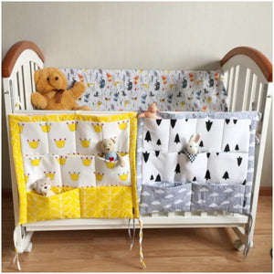 Multi-functional Cloth Crib Hanging Organizer - Multi-functional Cloth Crib Hanging Organizer