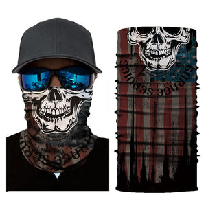 Multi-Purpose Skeleton Skull Face Mask Neck Gaiter - Multi-Purpose Skeleton Skull Face Mask Neck Gaiter