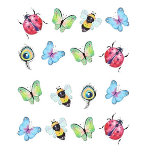 Butterfly Flower Nail Sticker-TrendyVibes.CO