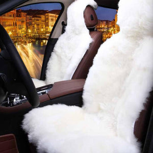 Natural Fur Sheepskin Car Seat Cover - 1 Piece Warm And Soft Fur Car Seat Cover