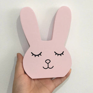 Sweet and Sleepy Wooden Bunny Home and Room Decor