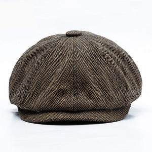 Octagonal Retro Autumn Winter Cap-TrendyVibes.CO