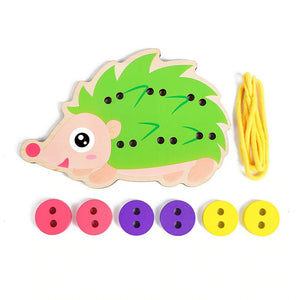 Wooden Sew-On Buttons Toy for Kids