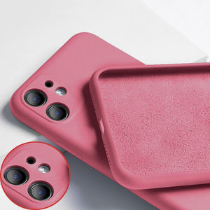 Soft Matte Non-Slip Silicone Phone Case for iPhone