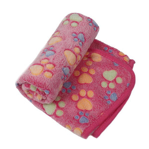 Pet Accessories Comfortably Soft Pet Cloth Paw Print Blanket - Comfortably Soft Pet Cloth Paw Print Blanket