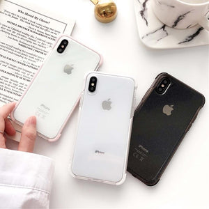 Phone Accessories Clear Glitter Powder Shockproof Case For IPhone - Clear Glitter Powder Shockproof Case For IPhone