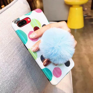 Phone Accessories Soft And Fluffy Pompom Phone Stand And Holder - Soft And Fluffy Pompom Phone Stand And Holder