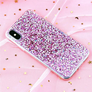 Glitter Crystal Soft Silicon Case for iPhone-TrendyVibes.CO