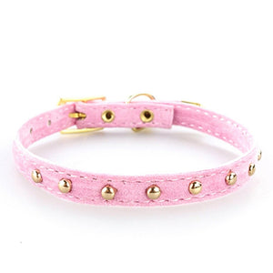 Adjustable Soft Flocking Classic Pet Collar