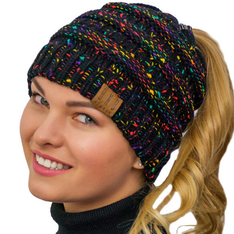 Ponytail Beanie Winter Hat Messy Bun Beanie Ponytail Winter Hat - Messy Bun Beanie  Ponytail Beanie a2557b8fad9