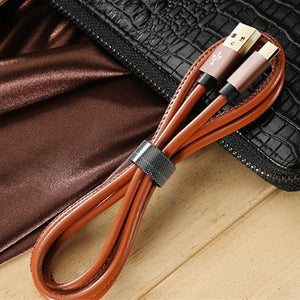 Premium Leather Micro USB Cable-TrendyVibes.CO