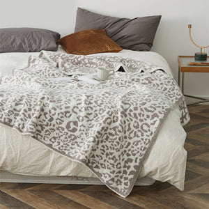 Winter Warm Leopard Print Blankets
