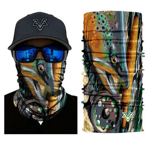 Seamless And Stretchable Face Mask Neck Gaiter For Fishing - Seamless And Stretchable Face Mask Neck Gaiter For Fishing